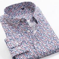 6XL 7XL 8XL 9XL 10XL Shanbao Brand Dimensione sovradimensionato da uomo Autunno Casual Camicia a maniche lunghe Camicia geometrica Modello geometrico Camicia classica stampata 210305