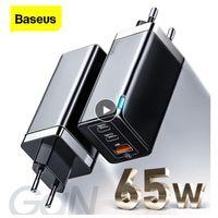 Baseus GAN2 PRO 65W USB C Зарядное устройство Быстрый зарядки 4.0 3.0 QC4.0 QC PD3.0 PD USB-C типа C Быстрое USB зарядное устройство для iPhone 12 Pro Max Samsung MacBook