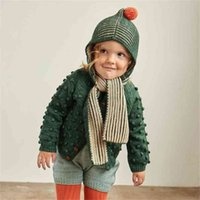 Misha and Puff Toddler Boys Girls Knit Scarf with Hat Baby Keep Warm Winter Accessories Brand Children 210619