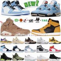 1s المحكمة العليا الأرجواني منخفضة أحذية كرة السلة للرجال Hyper Royal Dark Mocha Obsidian Womens Sport Sneakers Jumpman 1 Trainers with Box 36-47 Eur