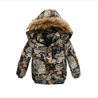 2021 New Fashion Boys Down Coats Autumn Winter Kids Hooded Warm Jackets Cotton Children Outwear Windbreaker Boys Jacket