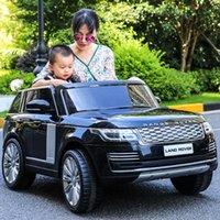 Негабаритная Land Rover детская электрическая коляска с четырьмя колесами внедорожник Два сиденья Пульт дистанционного управления Детская игрушечная машина может сидеть взрослых