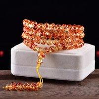 Натуральный цветок янтарный пчел браслет 108 бусин янтарные 8 мм пчелиные браслеты для женщин лучший друг