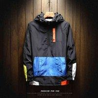 2019 Осенняя мужская куртка плюс размер 5xL свободных цветных блоков с толщинами бомбардировщики Жутки бомбардировщики бейсбольная форма ветровая уличная одежда