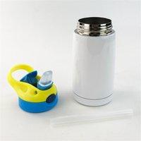 2021 Sublimação Sippy Cup 350ml de aço inoxidável duckbill copo duplo copo de isolamento kid straw manter a garrafa de água quente T9i001141
