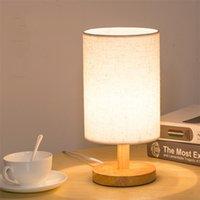 Eenvoudige moderne tafellamp slaapkamer studie bedlampje massief hout creatieve verjaardagscadeau nacht licht decoratie EU / VS / Britse plug