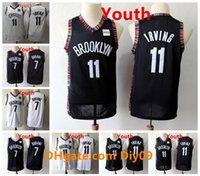Crianças 11 Kyrie Irving Jersey Preto Branco 7 Kevin Durant City Nova Edição Stitched Juventude Vintage Jerseys