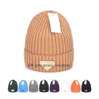Yüksek Kaliteli Tasarımcı Kasketler Marka Casquette Erkekler Kadınlar Kış Şapka Spor Örgü Şapka 2021 Unisex Lüks Moda Sıcak Mektup Rahat Açık Kap Beanie Kafatası Kapaklar