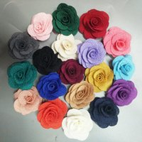 10 adet / çanta Boyutu 4 cm Kumaş Gül Çiçek El Yapımı Bez Çiçekler El DIY Malzeme Düğün Buket Çiçek Saç Bezi Aksesuarları