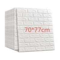 Wall Stickers 3D Brick DIY Self Foam Waterproof Home Decor Covering Wallpaper For TV Background Kids Living Room Decoration