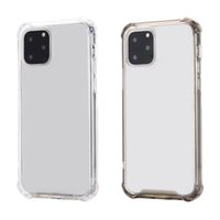 1.5MM Crystal Hard Acrylic PC Soft TPU Shockproof Cases For IPhone 13 Pro Max 12 Mini 11 XR X XS 10 8 7 Plastic Four Corners Anti-Fall Hybrid Clear Blank Phone Back Skin Cover
