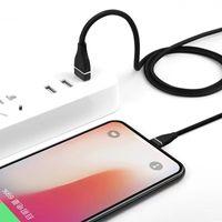 M 3FT tecido trançado 2A Tipo de velocidade rápida C Micro USB Cabos para Samsung S8 S9 S10 S7 S6 Edge Nota 10 HTC LG Android Phone