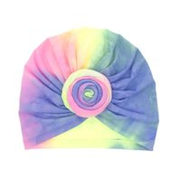 Мягкий детский младенческий тюрбан шапка с луком узел милый питомник шанре многоцветный