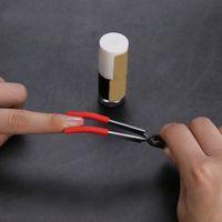 Tweeer Silicone Tweer Herramienta de cera de acero inoxidable herramienta Embalaje independiente Pinzas Pinzas con punta con tapa de silicona Consejos para fumar Accesorios para fumadores