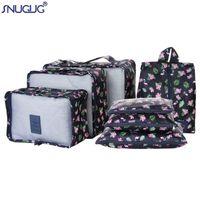 Sacs Duffel Snugug 7pcs / Set Haute Qualité Oxford Tissu MS Sac de vêtements de voyage dans l'organisateur de bagages Packing Cube Organisateur pour Vêtements