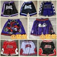 Mens Bulls.Shorts de basquete costurado malha torontoraptoresApenas shorts de basquete Don SacramentoKings.Mitchellness