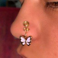 Schmetterlingsnasenmanschette Nicht Piercing, gefälschte Nasenringe, afrikanische Nasenmanschette Nicht Piercing für Frauen