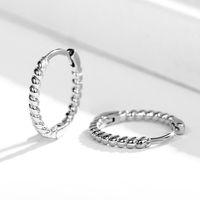 Hoop & Huggie Simple Mini Circle Earrings For Women Twist Design Small Hoops Teens Jewelry Delicate Versatile Female Earring