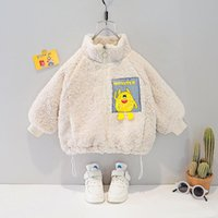 Jackets Children Toddler Girls Winter Clothes Kids Boys Thick Lambswool For Baby Pockets Full Warm Monster Outerwear Parka