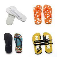 Sublimation Blank Flip Flops Flat Bottomed Rubber Slipper Women Men Home Furnishing Shoes Indoor Fashion Gifts