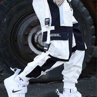 Probow Streetwear Multi Multi Bolsets Cargo Harem Pantalones Hip Hop Casual Hombre Pantalones Pantalones Juggers Pantalones Moda Hombres Pantalones 210406