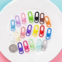 2021 Colorful Chain Ring Metal Lobster Clasp Clips Bag Car Keychain Diyjewelry Accessories Key Hooks Hook Up Base Findings