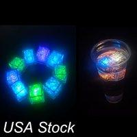 Altro LED illuminazione del partito decorazione dei colori luci mini romantico luminoso cubetto artificiale cubetto di ghiaccio flash LED luce di nozze di nozze di nozze stock di USA