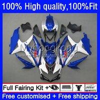 Suzuki GSXR600 750CC GSXR750ホワイトブルーNEW GSXR-750 08-10ボディ22NO.112 GSXR 750 600 CC GSX-R600 K8 2008 2009 2010 GSXR-600 600CC 08 09 10フェアリングキット