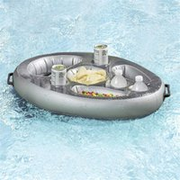 Poolzubehör 2021 sommer party bucket cup halter aufblasbare float bier trinken kühler tisch bar train strand schwimmen
