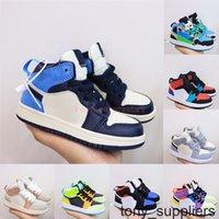 Yüksek Kaliteli Jumpman 1 1 S Çocuklar Basketbol Ayakkabı UNC Büküm Obsidiyen Dijital Pembe Çocuk Toddlers Erkek Kız Spor Sneakers Retro Eğitmenler