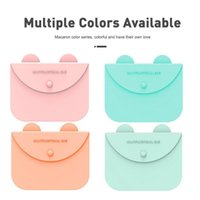 Storage Bags Face Mask Box Holder Reusable Silicone Organizer Bag For Disposable Pouch Case Items
