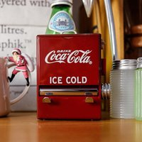 Personalità Retro-Cola Toothpick Box Distributori automatici Stile Pressatura Darchiant Caso Dispenser Plastic Holder Ornament