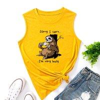 트렌디 한 및 간단한 스타일 여성 탱크 카메인 동물 나무 재미있는 탑스 여성 조끼 탑 여름 셔츠 민소매 티셔츠 캐주얼 티 옷