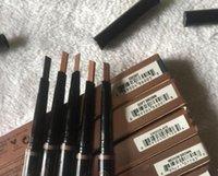 Maquiagem sobrancelha sobrancelha lápis duplo terminado com escova de sobrancelha 5 cor ébano / médio / macio / escuro / chocolate automaticamente espiral frete grátis