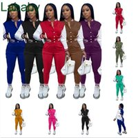 Women Tracksuits Two Piece Set Designer Fall Baseball Uniform Jackets Sweatpants Outfits Sweatsuits Joggers Pants Varsity Suits 9 Colours