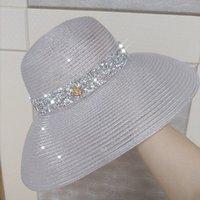 Летние дамы Солнца Шляпы Приморский Солнцезащитный крем Мода Caps Путешествия Каникулы Все Матч Бич Шляпа без следа
