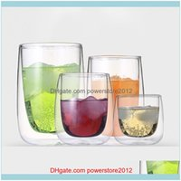 Drinkware Kitchen, Dining Bar Home & Gardenheat-Resistant Double Wall Glass Creative Coffee Juice Mugs Milk Cafe Cup 80-400Ml Beer Cocktail