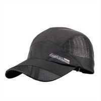 Fashion Mens Baseball Cap Adjustable Outdoor Sport Running Snapback Bone Summer Sun Hat Breathable Thin Mesh Fast Drying Caps