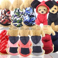 강아지 의류 의류 위장 강아지 강아지 까마귀 코트 소프트 애완 동물 재킷 겨울 작은 겉옷 개 스웨트 애완 동물 6 디자인 ywy1512