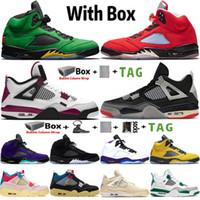 2021 con caja Jumpman High OG 4 Sail Paris Zapatillas de baloncesto para hombre 4S AneleZes Black Cat 5 5s Michigan Trofy Room Women Sneakers Trainers Tamaño 7-13