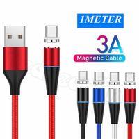Carga rápida 1M 3FT 3A Tipo C Micro Cables Braidados Cable USB magnético de nylon para Samsung S10 S20 S21 Nota 21 HTC LG XIAOMI