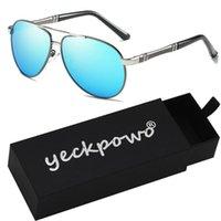 Sonnenbrille Männer Polarisierte UV400 Sonnenbrille 2021 Jahrgang für das Fahren Angeln ckpowo Marke Desinger