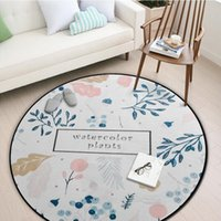 Carpets Round Carpet Plant Printed Area Rug For Living Room Yoga Mat Bedroom Rugs Home Decoration Child Play Pad Door Alfombras