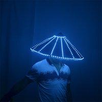 Party Dekoration P83 Ballroom Dance LED Licht Kostüme DJ Leuchthüte Bar Roboter Männer Anzug Glühend Hut Bühnenbild Kopfstück Wears