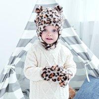 Caps & Hats Winter Baby Hat Gloves Leopard Faux Fur Infant Bonnet Kids With Earflap Beanie Children Cap For Girl Boy 1-4Y
