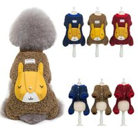 Dog Apparel A82 Cute Winter Jumpsuit Overalls Clothes Super Warm Small Costume Puppy Outfit Chihuahua Coat Jacket