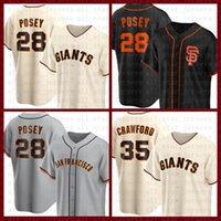 San Francisco Бейсбол Джерси Гиганты пользовательские 28 Buster Posey 22 Будут Clark 35 Brandon Crawford 40 Madison Bumgarner 9 Brandon Ream