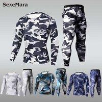 2020 Sexemara быстрый сухой камуфляж мужские бегущие наборы компрессионные спорты костюмы узкие колготки одежда спортзал фитнес Camo Sportswear T200328