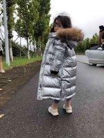 Olekid Giacca in inverno russo per ragazze impermeabile lucido cappotto caldo 5-14 anni adolescente ragazza parka snowana 210827
