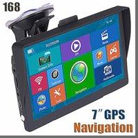 Nuova auto auto 7 pollici GPS Navigator Bluetooth Truck Bluetooth Sat Nav con Sunshade Shield 8 GB 256 MB FM Avin Navigazione Aggiornamenti gratuiti Mappe